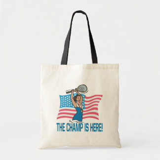 The Champ Is Here Canvas Bags