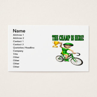 The Champ Is Here Business Card