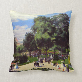 The Champs-Elysees during Paris Fair of 1867 Pillow