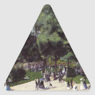 The Champs Elysees during the Paris Fair of 1867 Triangle Sticker