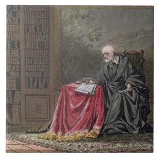 The Chancellor, Michel de l'Hopital (c.1503-73) Co Ceramic Tile