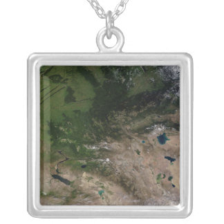 The change in vegetation square pendant necklace