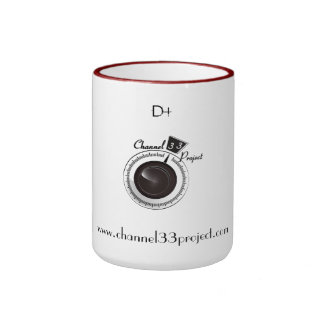 The Channel 33 Project 1st edition coffee mug. Ringer Mug
