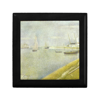 The channel of Gravelines by Georges Seurat Trinket Boxes