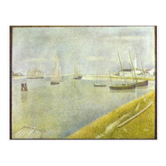 The channel of Gravelines by Georges Seurat Post Cards