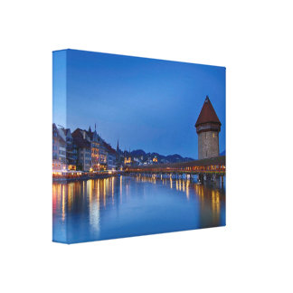 The Chapel Bridge in Lucerne Canvas Print