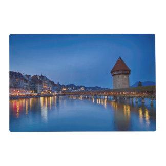 The Chapel Bridge in Lucerne Placemat