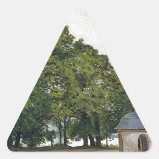 The Chapel Notre-Dame de Grace at Honfleur Triangle Sticker