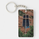 The Chapel of the Holy Cross Rectangle Acrylic Keychains