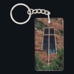 """The Chapel of the Holy Cross Keychain<br><div class=""""desc"""">The Chapel of the Holy Cross,  Sedona,  Arizona.</div>"""