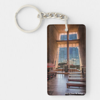 The Chapel of the Holy Cross Single-Sided Rectangular Acrylic Keychain