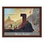 """The Chapel Of The Virgin At Subiaco By Morse Samue 4.25"""" X 5.5"""" Invitation Card"""