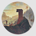 The Chapel Of The Virgin At Subiaco By Morse Samue Round Sticker