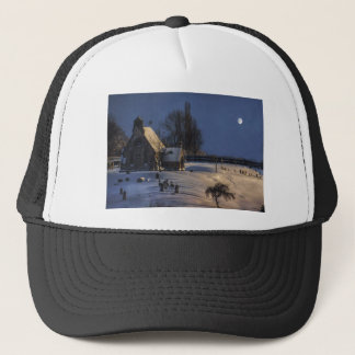 The chapel on the hill trucker hat