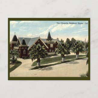 The Chapels, Soldiers Home, Los Angeles, CA postcard