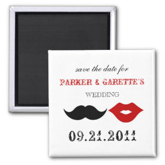 THE CHAPLIN - APPLE RED 2 INCH SQUARE MAGNET