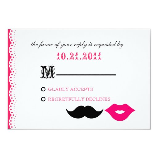 THE CHAPLIN - PINK PERSONALIZED INVITES