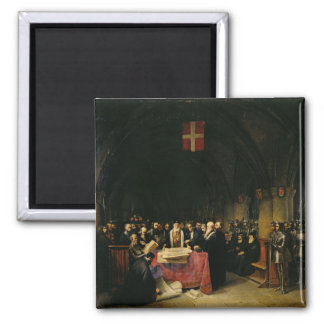 The Chapter of the Order of St. John of Jerusalem 2 Inch Square Magnet