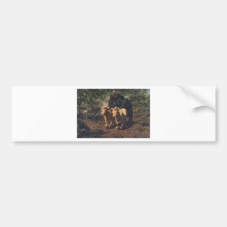 The Charcoal Burners by Rosa Bonheur Bumper Sticker