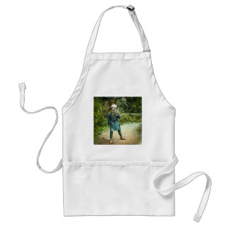 The Charcoal Merchant in Old Japan Rustic Vintage Adult Apron