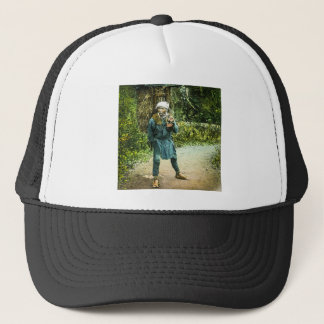 The Charcoal Merchant in Old Japan Rustic Vintage Trucker Hat