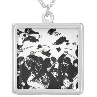 The Charge, 1893 Silver Plated Necklace