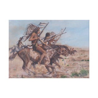 The charge canvas print