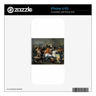 The Charge of the Mamelukes by Francisco Goya Decals For iPhone 4