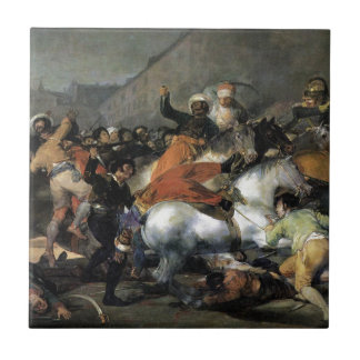 The Charge of the Mamelukes by Francisco Goya Tile