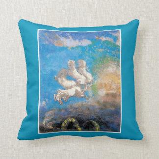 The Chariot of Apollo by Odilon Redon Throw Pillow