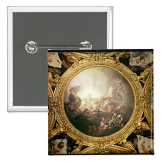 The Chariot of Apollo, ceiling painting Pinback Button