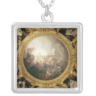 The Chariot of Apollo, ceiling painting Silver Plated Necklace