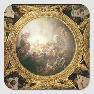 The Chariot of Apollo, ceiling painting Square Sticker