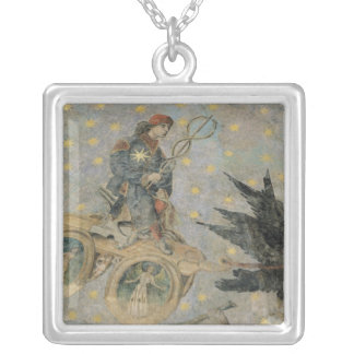 The Chariot of Mercury, detail from the vaulting Silver Plated Necklace