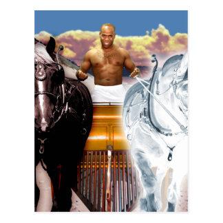 The Chariot Tarot Card Art Postcard