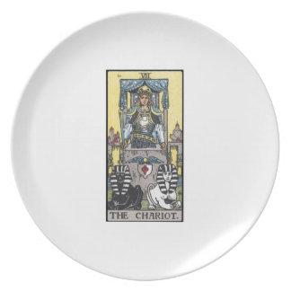 the chariot tarot dinner plate