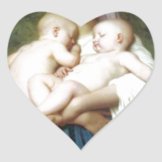 The Charity by William-Adolphe Bouguereau Heart Sticker