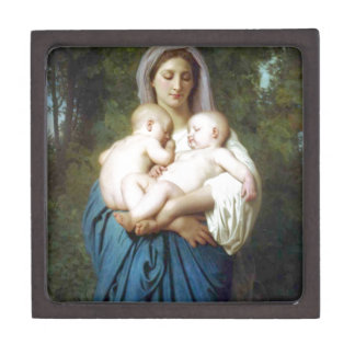 The Charity by William-Adolphe Bouguereau Keepsake Box