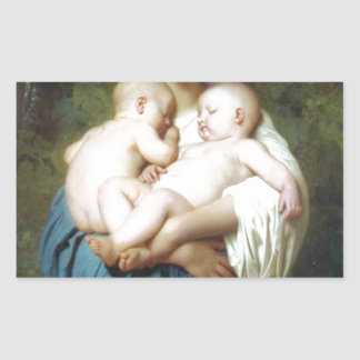 The Charity by William-Adolphe Bouguereau Rectangular Sticker