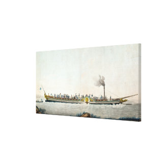 The Charles-Philippe, the first steamboat Canvas Print