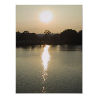 The Charles River at Sunset Poster