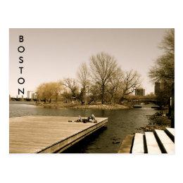 The Charles River Esplanade (sepia) Postcard