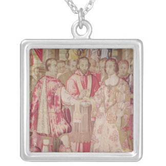The Charles V Tapestry Silver Plated Necklace