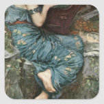 The Charmer by John William Waterhouse Square Sticker