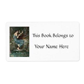 The Charmer - Minor Goddess of Greek Myth Custom Shipping Label