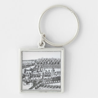The Charterhouse Hospital, c.1720 Silver-Colored Square Keychain