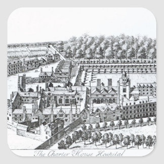 The Charterhouse Hospital, c.1720 Square Sticker