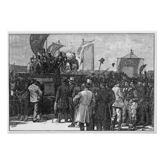 The Chartist Demonstration on Kennington Print