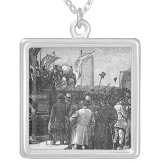 The Chartist Demonstration on Kennington Silver Plated Necklace