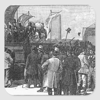 The Chartist Demonstration on Kennington Square Stickers